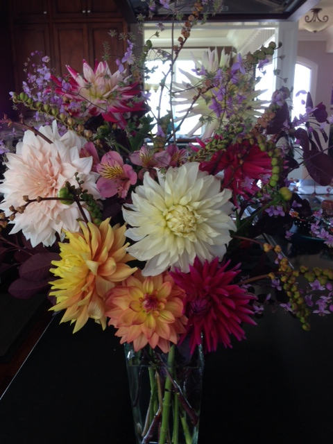 Dahlias picked from Al and Toni Young's garden. Have a photo of dahlias — our official city flower — that you'd like to share? Email it to teresa@myedmondsnews.com.