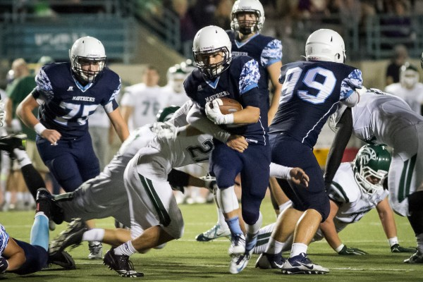 Meadowdale running back Rory Spillum with the ball.