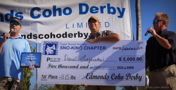 1st Place Winner, Adult Division: Daniel Lejnieks (11.15 pounds). He earned a $5,000 award.