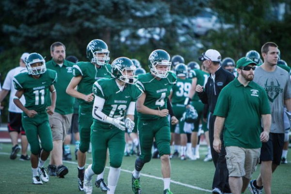 The Warriors leave the field after their win Friday. (Photos by Brandon Jennings)