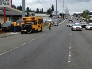 The accident took place in the 13200 block of Highway 99 (Photo by Washington State Patrol)