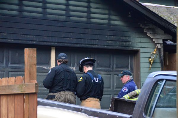Fire investigators attempt to determine the cause of the Sunday evening fire that gutted the west Lynnwood home of David Morgan.  Prosecutors have alleged that Morgan set the fire to cover up the attempted murder of his ex-wife Brenda Welch.
