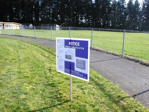 The current play field at the former Woodway High School.