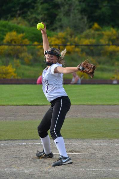 Kyra Collingridge pitches against Ferndale.