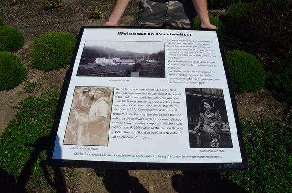 The new marker features historical photos and a brief history of Perrinville.