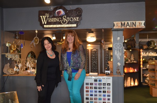 Wishing Stone owner Janet and manager Christy Gurley inside the store at xxx Main Street.