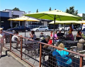 The patio at Red Twig. (Photo by Janette Turner)