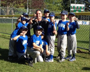 Mr. V. with the T-ball team.