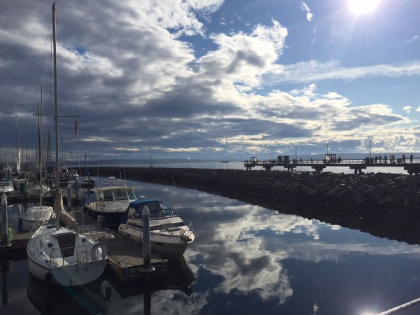 From Jennifer Marx: Magnificent clouds reflected along the Edmonds waterfront Sunday.