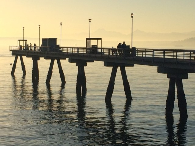 Repairs to the Edmonds Fishing Pier are (Photo by David Carlos)