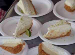 Key lime pie waiting to be served.