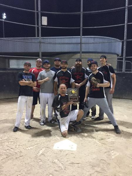 Pancake Haus recently won the Edmonds Parks and Rec softball league championship, going 12-0. Pictured, from left, are Adam Hudspeth, Joel Beattiger, Vinny Bray, Chris Gordon, Anthony Griffiths, Rick Rackliff (kneeling), JJ Bach, Taylor Smith, Zach Case, Aj Carrol. (Not pictured is Brandon Meyer)