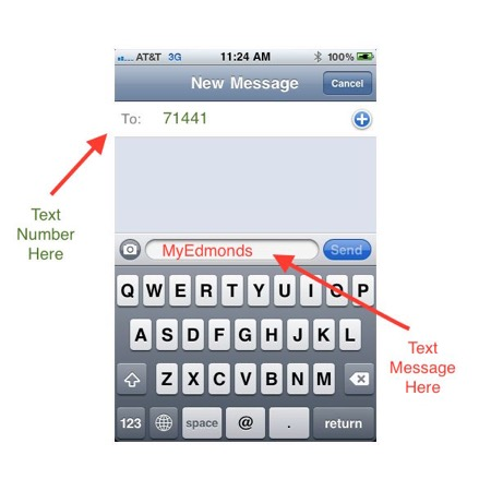 mobile phone text example