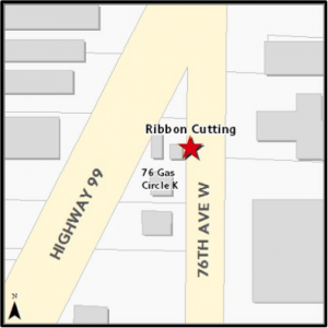 Location of the ribbon cutting.