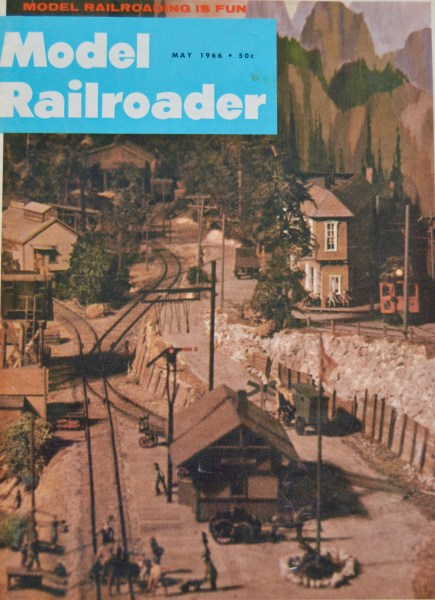 The Edmonds train layout on the cover of the May 1966 Model Railroader magazine.