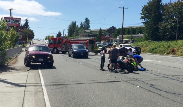 Happening nearby: Motorcyclist injured in Highway 99