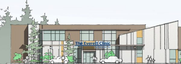 Artist's rendering of the Everett Clinic Shoreline, opening Sept. 26.