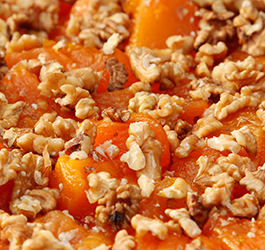 Squash with honey and walnuts.