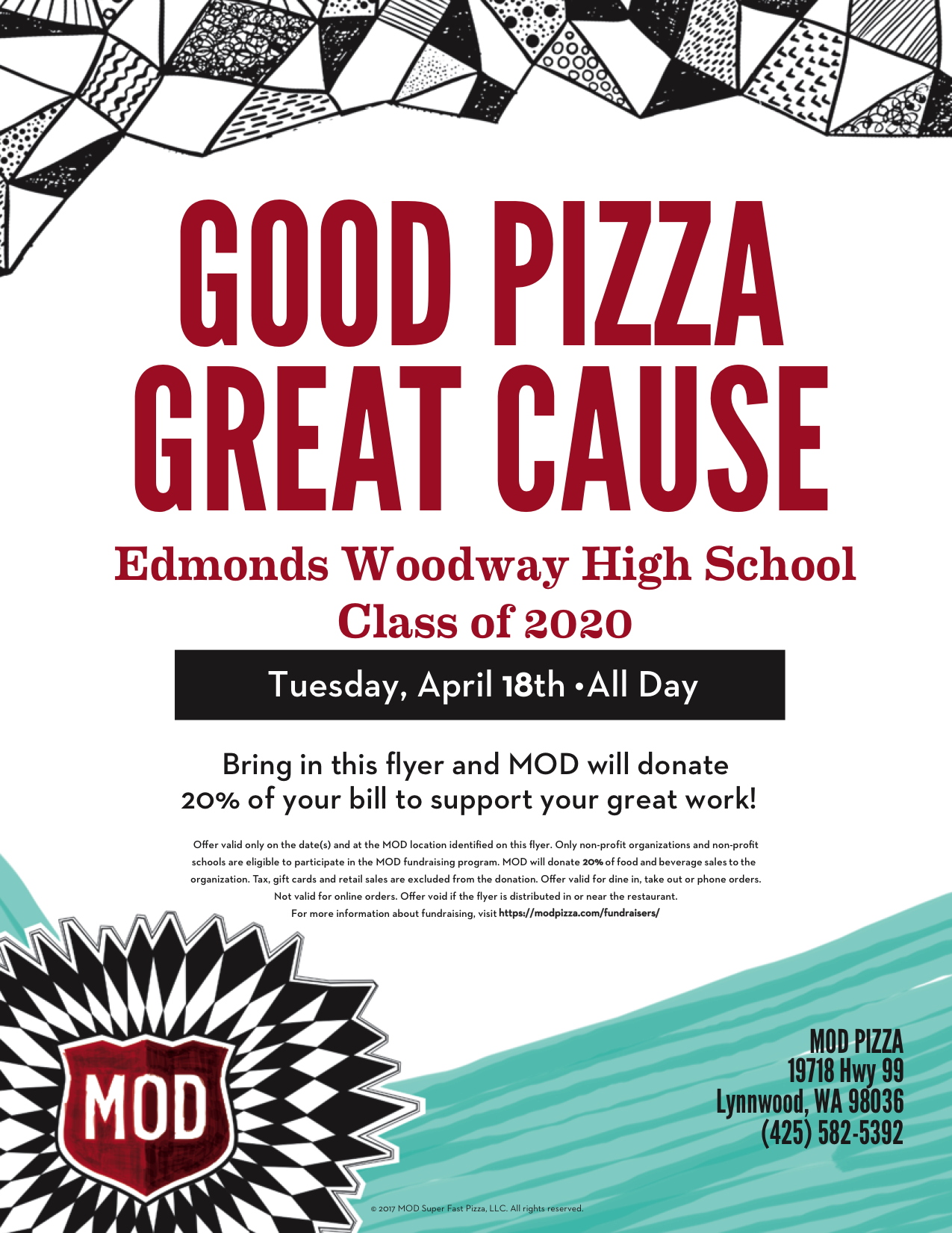 Eat At Mod Pizza April 18 And Help Ewhs Class Of
