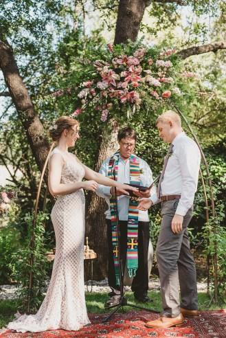 Megan and Patrick - Backyard Boho Wedding-93