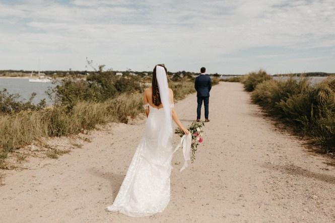 Backyard Shelter Island Wedding-16