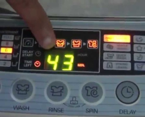 Automatic Washing Machine Control with Manual Override