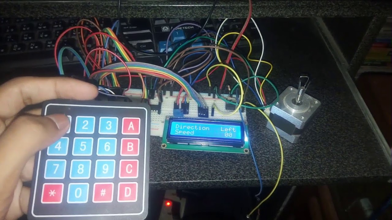Touch Screen Wireless Control Stepper Motor