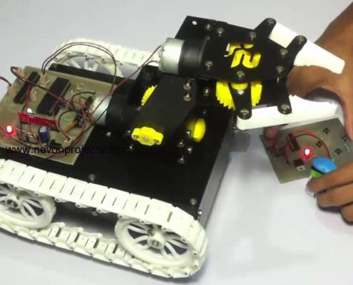 Pick and Place Robot Wireless Remote Controlled