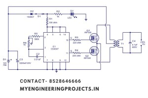 SIMPLE INVERTER CIRCUIT DIAGRAM FINAL YEAR PROJECT IN LUCKNOW