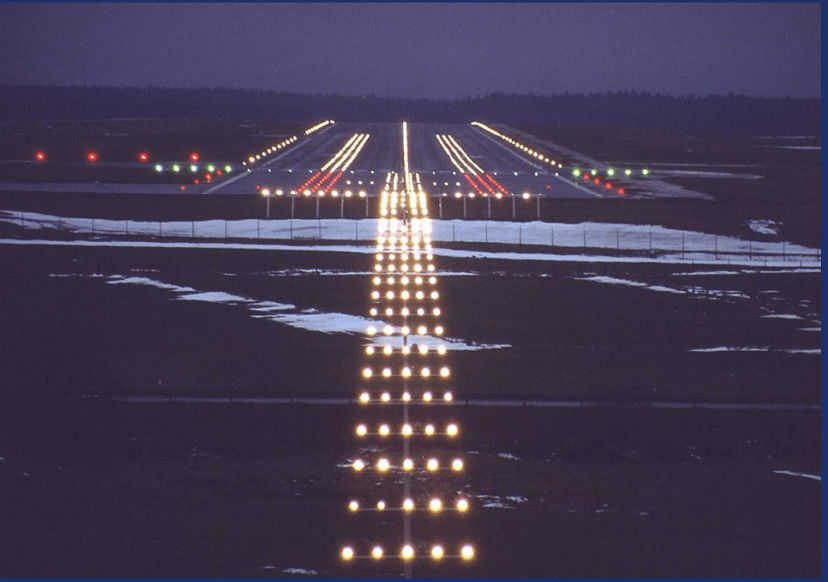 airport taxiway lights