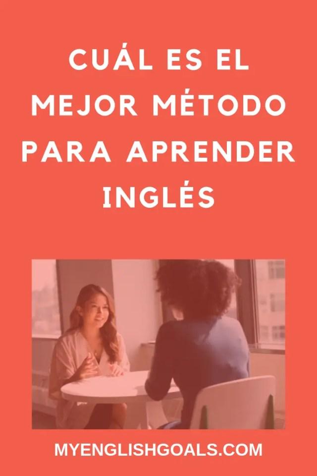 Cuál es el mejor método para aprender inglés