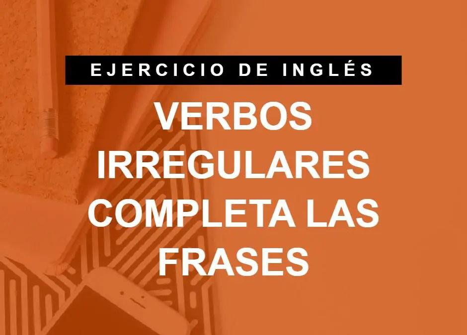 Elige el verbo irregular correcto en inglés (ejercicio 4/4) (A1 Principiante)