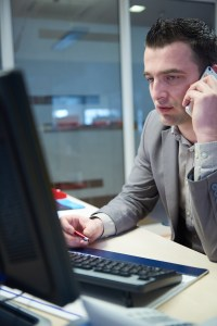 Business person on phone