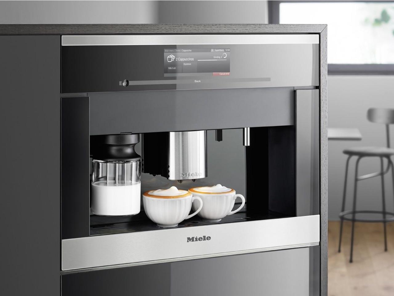 Miele built-in espresso machine