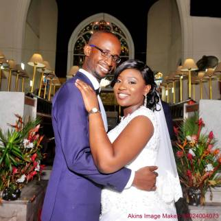 Married couple in church