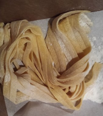 Some of our noodles. We all got to take home the noodles we made.