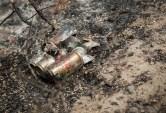 The litter burned