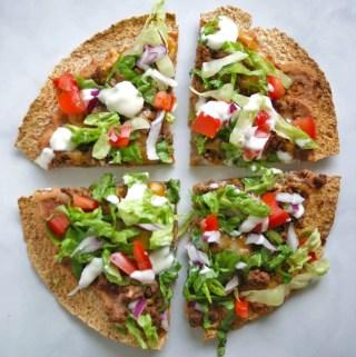 healthy taco tortilla pizza