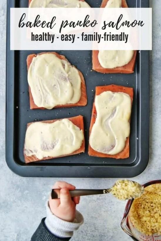 baked panko salmon