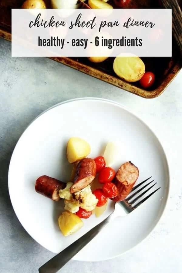 Chicken Sausage + Vegetable Sheet Pan Dinner