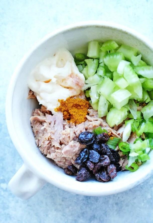 Easy Curried Tuna Salad Snack Plate