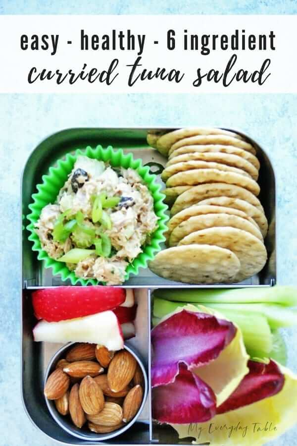 Easy Curried Tuna Salad Snack Plate