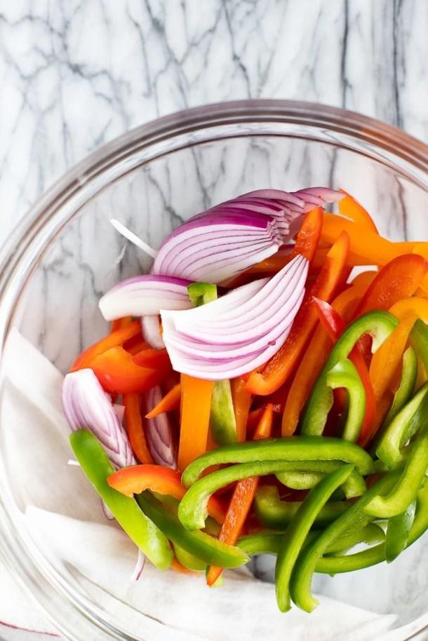 veggies for turkey fajitas
