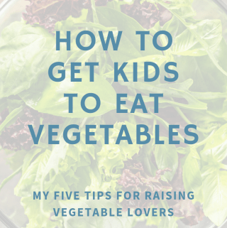how to get kids to eat vegetables poster on salad