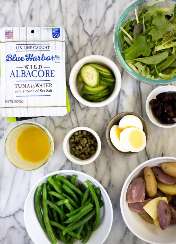 ingredients for tuna nicoise salad recipe