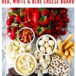 red white and blue cheese board recipe - pinterest