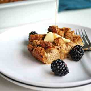 Baked French Toast with Sprouted Bread | whole-grain, high in protein and fiber and satisfying!