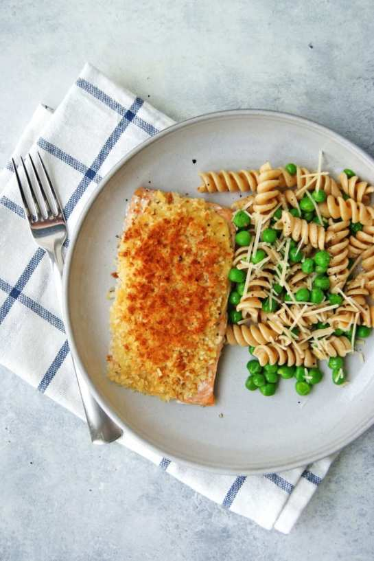 baked salmon with panko