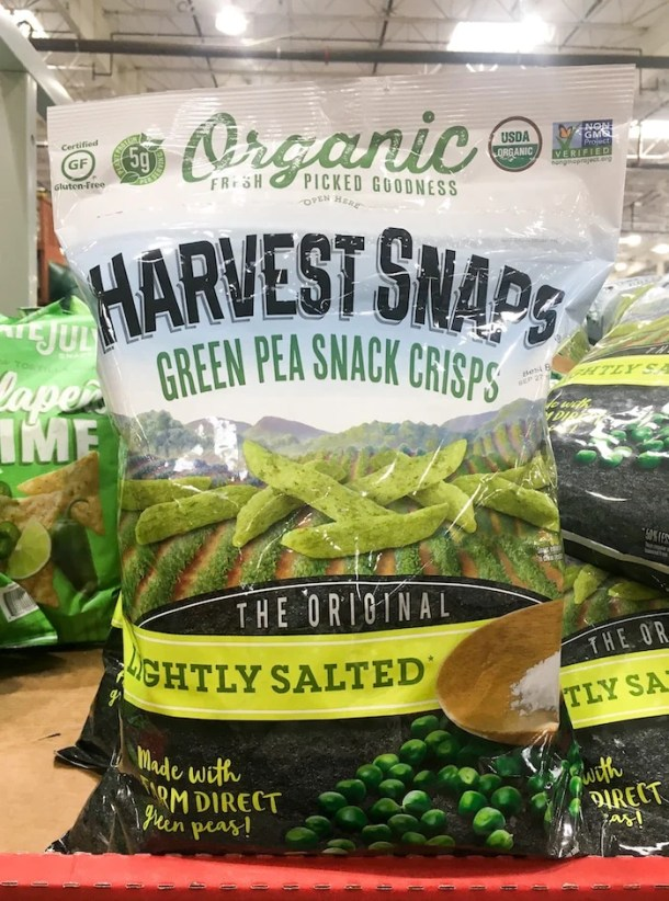 best snacks costco - pea crisps