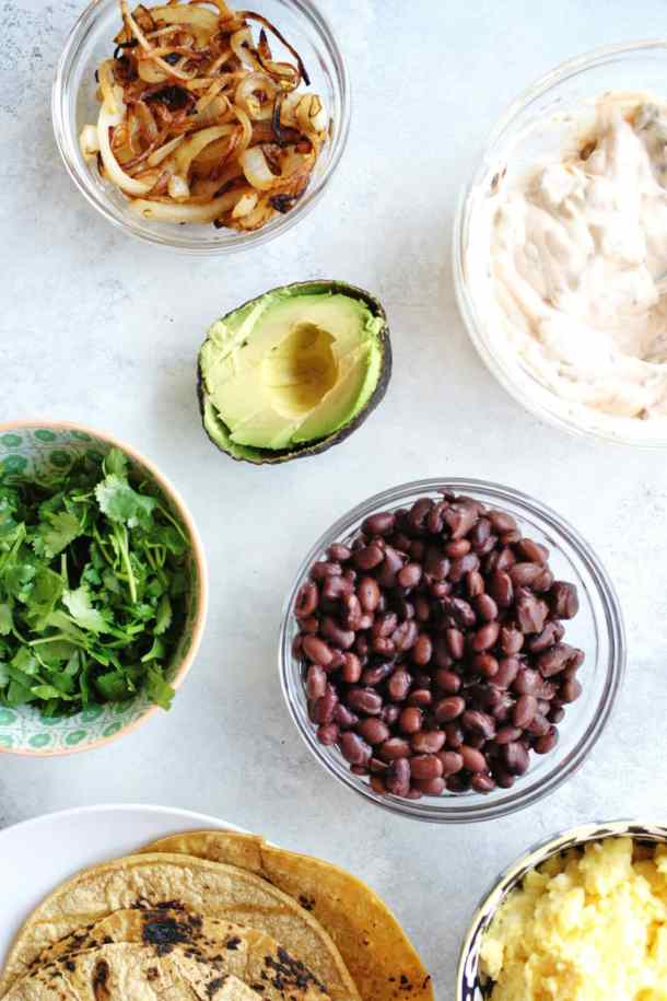 toppings for breakfast tacos recipe